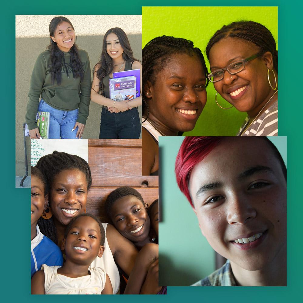 grupo diverso de estudiantes